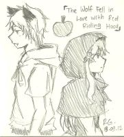 The Wolf Fell in Love With Red Riding Hood by Roello-G
