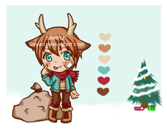 [CLOSED] Christmas Reindeer Adoptable by LinYan