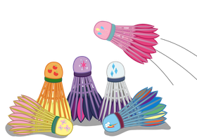 My Little Shuttlecock : Badminton is Magic by Fishinabarrrel