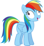 Rainbow Dash Derping by MoongazePonies