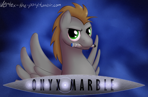 Onyx Marble - Con Badge by Rhyrs