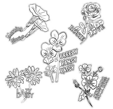 Flower Sketch Stickers by Mere771