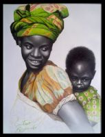 Mother and child by gdvectors