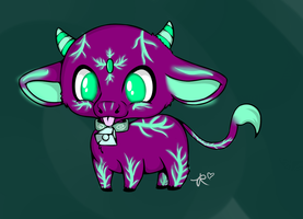 Mystical Purple Cow Adopt~ OPEN by MarMarRina