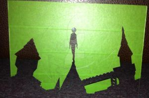 Soul Eater Death the Kid silhouette progress by steady-vertigo