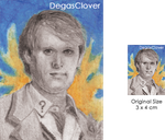 Fifth Doctor - Pencil Mini portrait by DegasClover