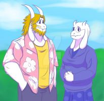 Mom and Dad Goat by Noire73