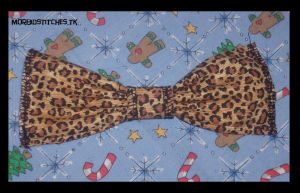 Giant Leopard Bow by morbid-stitches