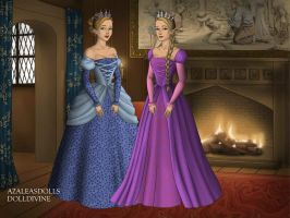 Tudors Cinderella and Rapunzel by QueenoftheLemurs
