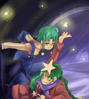 The two stars by kango67