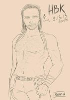 Doodle 091313 : Shawn Michaels by AOBAN