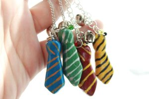 Hogwarts House Tie Charms by hoshi-chan128