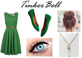 Disney TinkerBell Inspired Outfit by RockerChic21