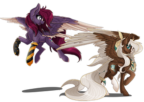 Shadow Twist and Desert Flurry by BlackFreya