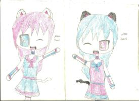 Neko OC chibi *Already Posted! Just for the Prank* by FrozenFlyingKero