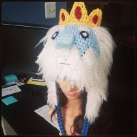 Adventure Time Ice King Crochet Beanie by AAMurray