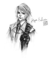 Hope Estheim XIII-2 Sketch by jirito