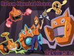 Haunted House Happy Rotom Halloween by Luisazo