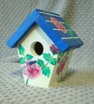 Painted Birdhouse with Roses by sweetpie2