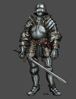 Gothic Knight by TheLivingShadow