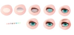 Eye step by step by Thiemha