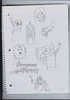 Adventure Time doodles by princessdaisy12