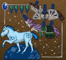Blue Pony Paper Doll by heatherleeharvey