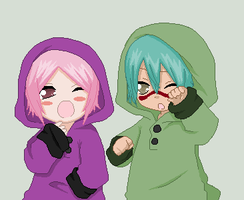 Nel Tu and Yachiru by xXBloodySuicidexX