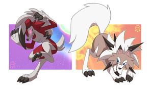 ::Sun and Moon - Lycanroc:: by Mangostaa