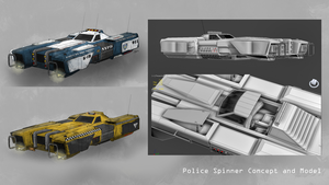 WIP Model - Police Spinner by DMGaina