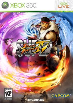 Super Street Fighter 4 Boxart by F-1
