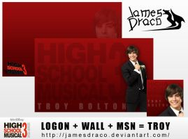 HSM3: Troy Bolton by JamesDraco