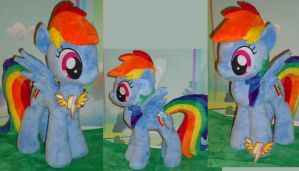 Rainbow Dash Plush and key by My-Little-Plush