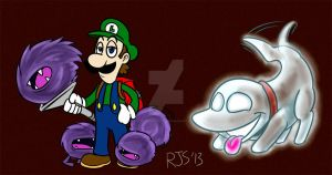 Luigis Mansion sketches by ronnieraccoon
