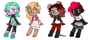 Monster Girlies - adopts: by Supertato