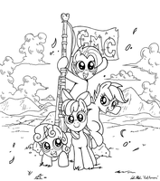 Cutie Mark Crusaders! (LINES) by RedApropos