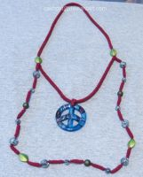 Peace Crochet Necklace by cakhost