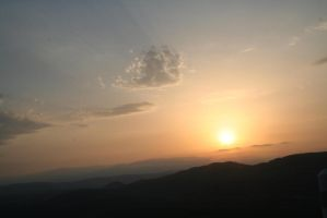 Sunset in the mountains. by xSiana182x