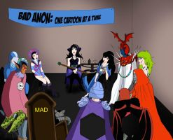 Bad anon reunion cartoon version by Lady--knight