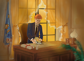 JFK at his office by DianaKennedy