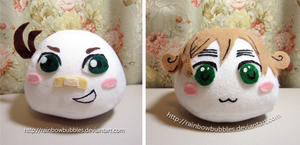 Commission- APH Australia and New Zealand mochis by Rainbowbubbles