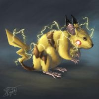 Pikachu by ReneCampbellArt