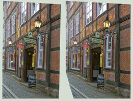 Kartoffelhaus HDR 3D :: Stereoscopic Cross Eye :: by zour