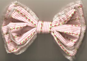 Alice Bow Pink stripes+flowers by FaNtAsYzMaRiOnEtTe