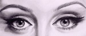 adele eyes by akshay-nair