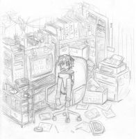 my workspace by LydiaLawliet