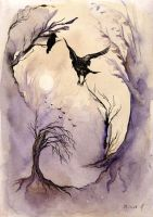 Mystics With Crows by Alharaca