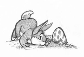 Bunny and the egg. by Midsea