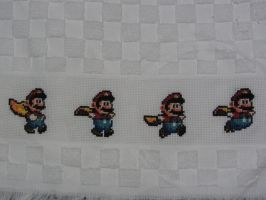 Super Mario World cross stitch towel by Lileya-Celestie