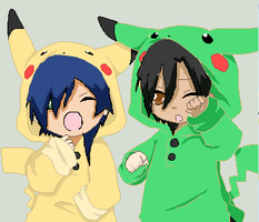 Fabia and Shun are Pikachu by Ishi-loves